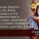 Santa Clara de Asís: frases y enseñanzas, oración y biografía